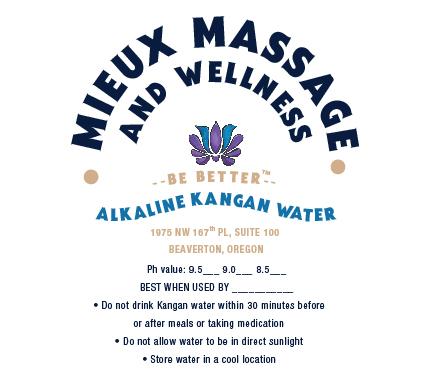 Alkaline water label design