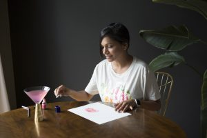 This is an image of Malini Gupta, the designer.